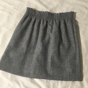 JCrew Gray Knit Sidewalk Skirt